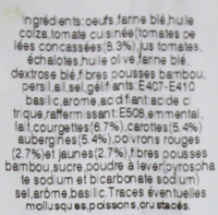 Cake aux légumes 160 g - Ingredients