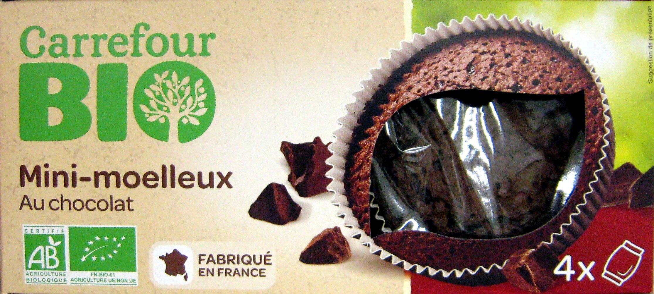 mini moelleux au chocolat carrefour 200 g 4 x 50 g. Black Bedroom Furniture Sets. Home Design Ideas