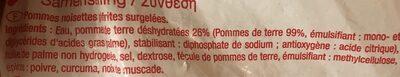 Pomme noisette - Ingrediënten - fr