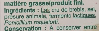 Roquefort - Ingrediënten - fr