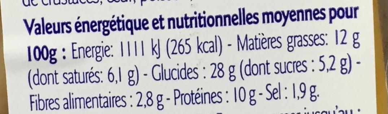 Sandwich Jambon Cheddar Pain Suédois - Nutrition facts