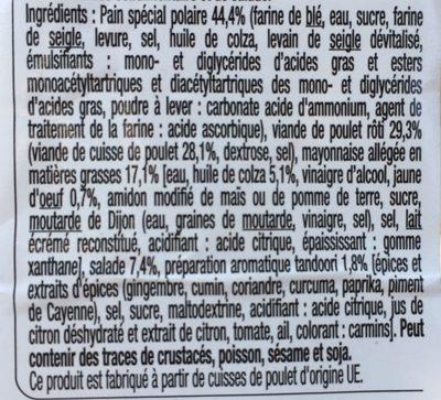 Évasion Poulet Tandoori - Ingrediënten - fr