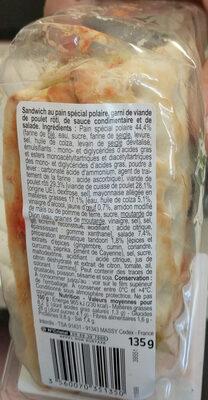 Sandwich Poulet tandoori - Ingredients - fr