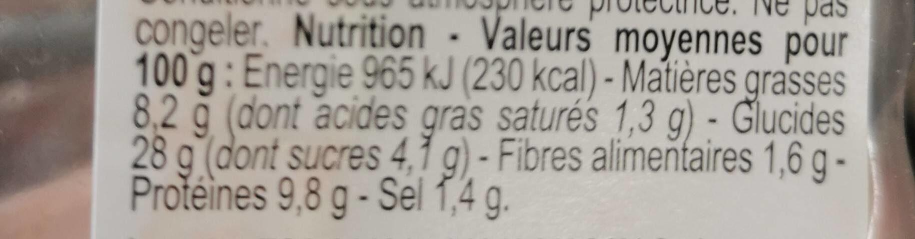 Sandwich Poulet tandoori - Nutrition facts - fr