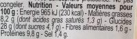 Sandwich Poulet tandoori, pain polaire - Voedingswaarden - fr