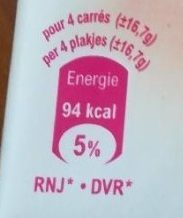 Chocolat Blanc - Nutrition facts - fr