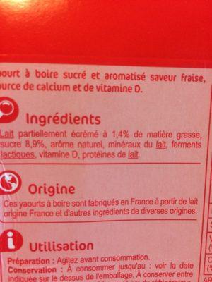 Yaourt à boire aromatisé - Ingredients - fr