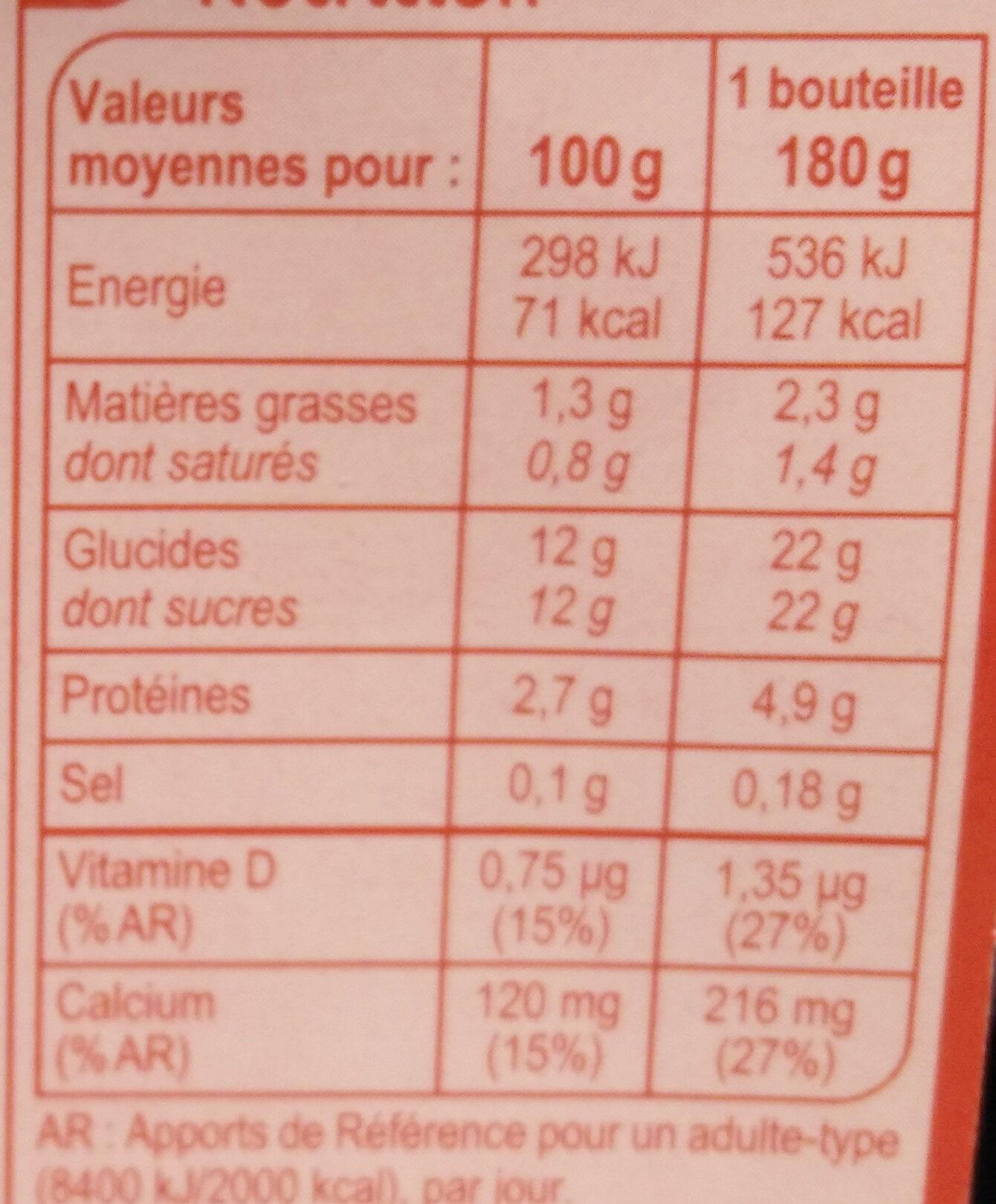 Yaourt à boire aromatisé - Nutrition facts - en