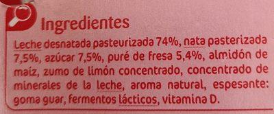 Fromage Frais Pocket Fraise - Ingredientes - fr