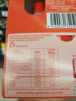 Fromage Frais Pocket Fraise - Información nutricional - es
