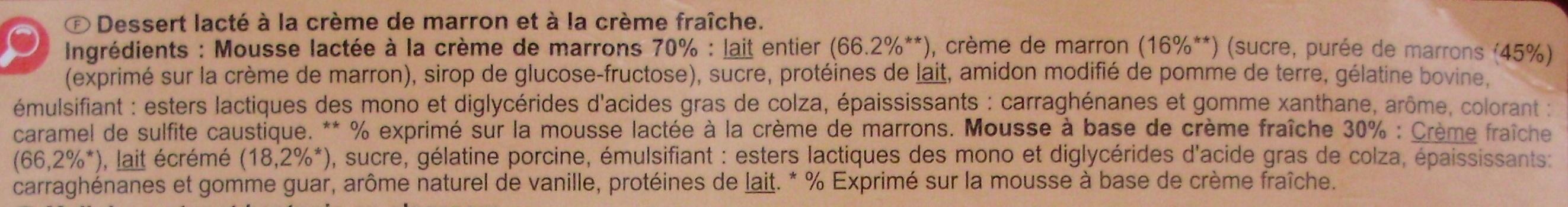 Mousse à la Liégeoise - Ingredients - fr