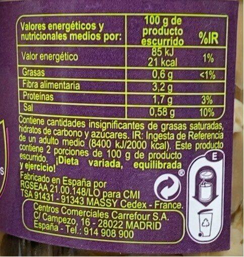 Mezcla de setas silvestres y cultivadas con champiñones - Información nutricional - es