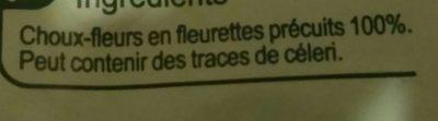 Les légumes minuteChoux-fleurs en fleurettes - Ingrediënten