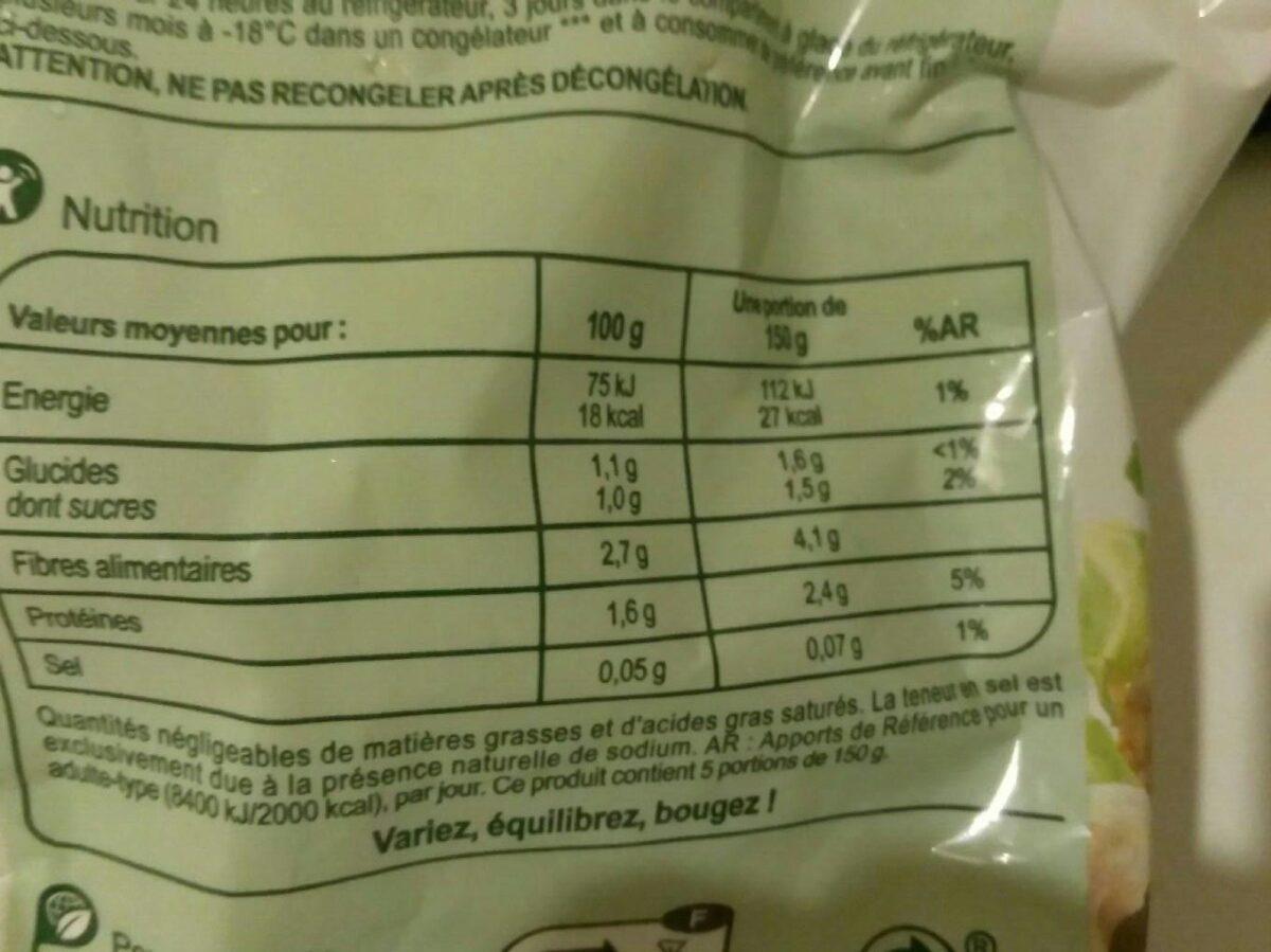 Les légumes minuteChoux-fleurs en fleurettes - Voedingswaarden