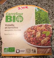 Volaille et lentilles aux petits légumes - Produit