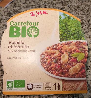 Volaille et lentilles aux petits légumes - Produit - fr