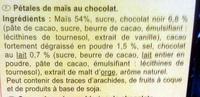 Copos de maíz Choco - Ingredientes