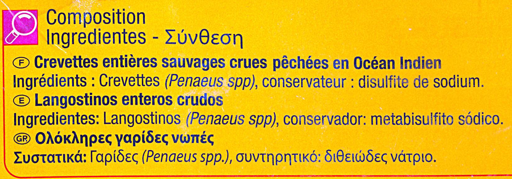 Gambas sauvages - Ingrediënten - fr