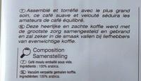 Pur Arabica - Ingredients - fr