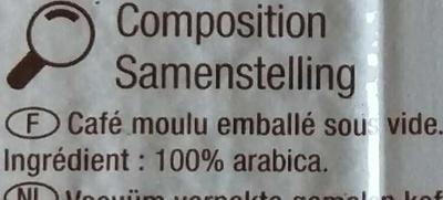 Pur arabica - Ingrediënten