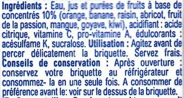 Multifruits, boisson - Ingredienti - fr