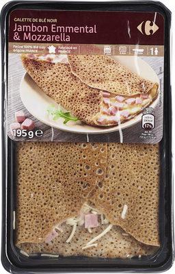 Galette de blé noir jambon emmental mozzarella - Produit - fr
