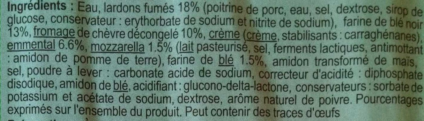Galette de blé noir lardons chèvre - Ingredients