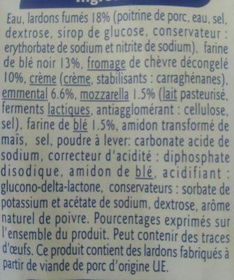 Galette de blé noir et fromage Lardons et Chèvre - Ingrediënten