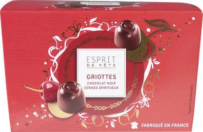 Griottes chocolat noir cerises spiritueux - Produit