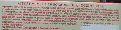 Assortiment de Chocolats Noirs - Ingredients - fr