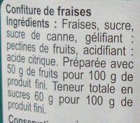Confiture Fraise - Ingredients - fr