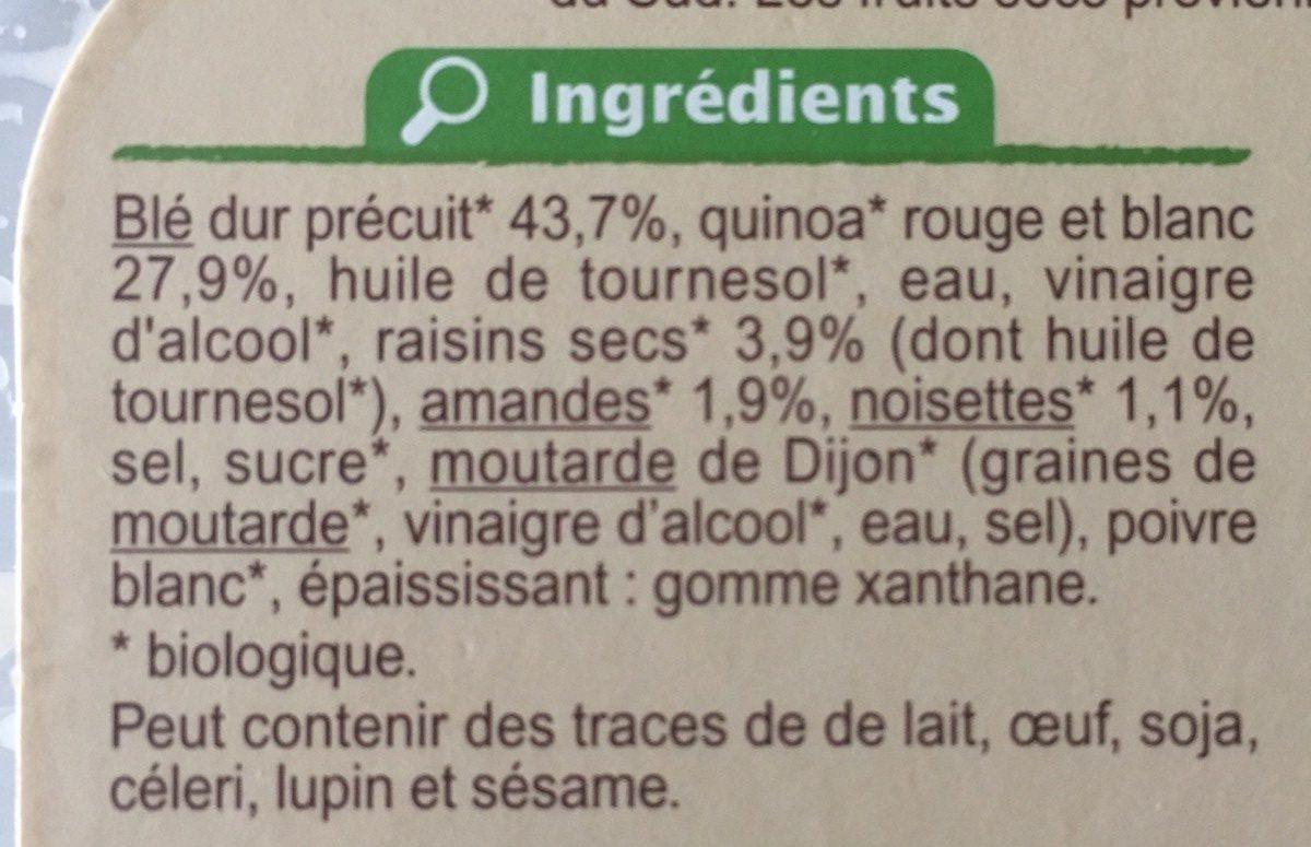 Boulgour & Quinoa - Ingrédients - fr