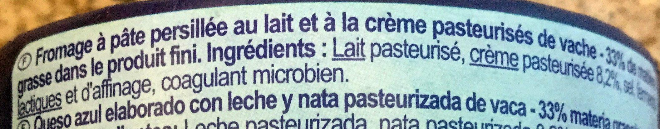 Bleu - Ingredients - fr