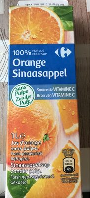 Orange 100 % pur fruit pressé (Sans Pulpe) - Produit