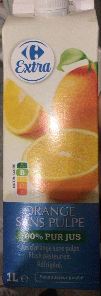 Orange 100 % pur fruit pressé (Sans Pulpe) - Produit - fr