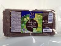 Bio Galettes de Riz nappées de Chocolat Noir - Prodotto - fr