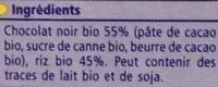Bio Galettes de Riz nappées de Chocolat Noir - Ingredienti - fr