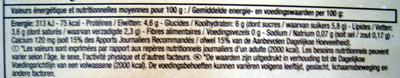 8 Yaourts brassés nature (Au lait entier) - Voedingswaarden - fr