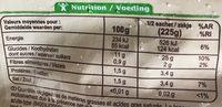 Purée de Pommes de Terre - Voedingswaarden - fr