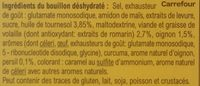 Bouillon Goût Volaille - Ingredients - fr