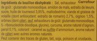 Bouillon Goût Volaille - Ingredientes - fr
