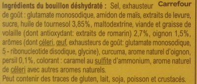 Bouillon Goût Volaille - Ingredients