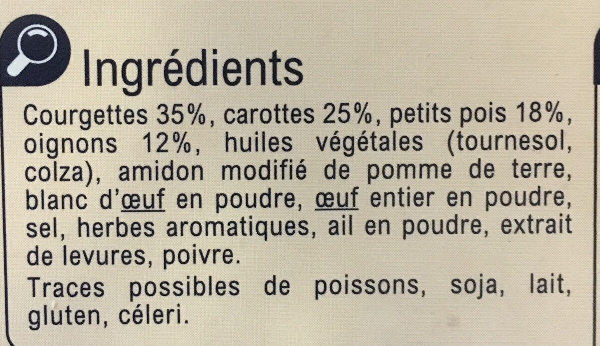 8 Palets Aux Petits Légumes - Ingredients