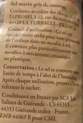 Sel de Guérande IGP - Ingrédients