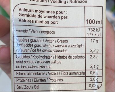 Soja à cuisiner - Nutrition facts - fr