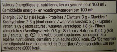 Soja à cuisiner - Informations nutritionnelles