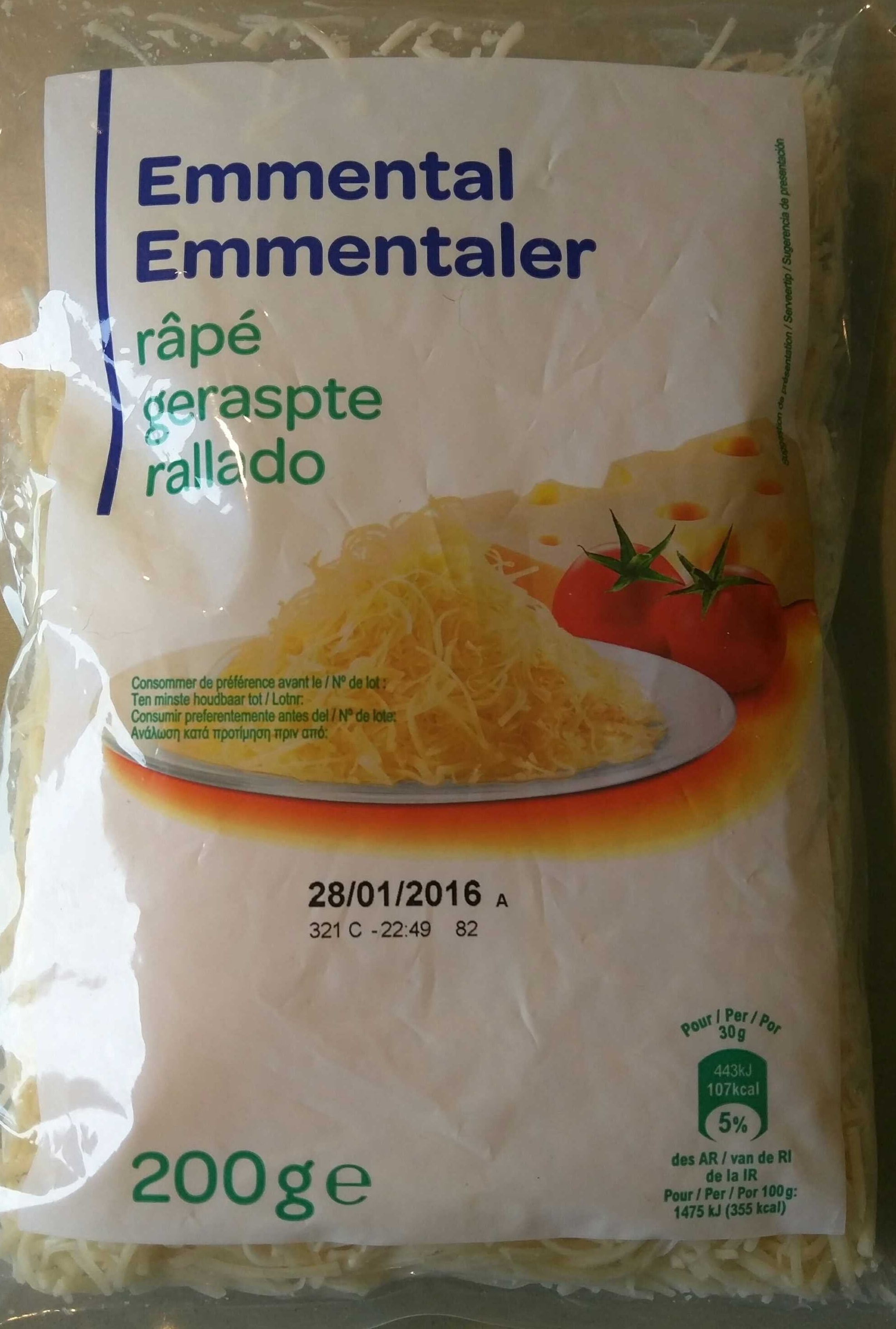 Emmental râpé (27 % MG) - Product