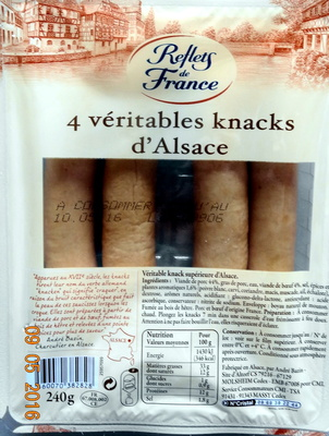 4 Véritables Knacks d'Alsace - Product