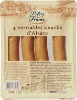 4 Véritables Knacks d'Alsace - Produit - fr