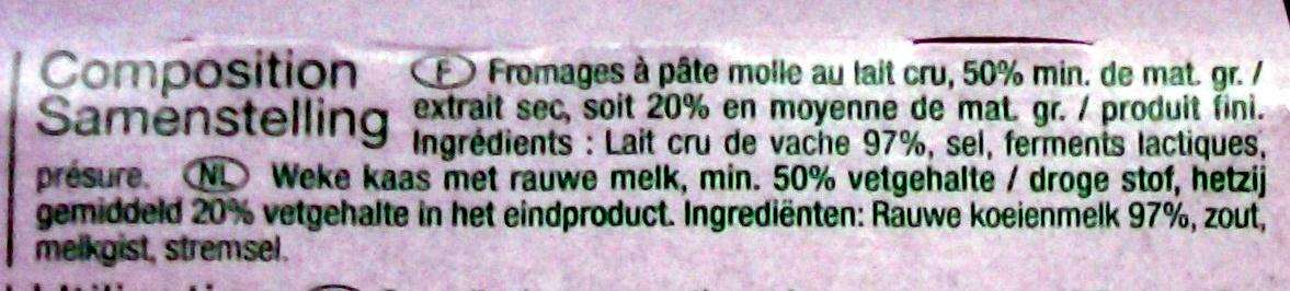 Saint-Marcellin au lait cru - Ingredienti - fr